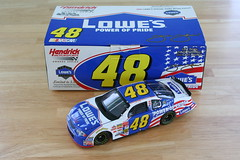 Jimmie Johnson #48 Lowe's Power of Pride 2002 Monte Carlo Chevrolet (fifthturtle48) Tags: 2002 chevrolet cup johnson montecarlo chevy nascar series lowes winston rookie 48 diecast winstoncup hendrick jimmiejohnson hendrickmotorsports 124scale teamcaliber winstoncupseries loweshomeimprovement