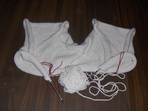 Cropped Cardigan with Leaf Ties - Progress