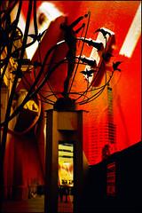 Electric City (Trevor Haldenby) Tags: morning red toronto statue electric spring trevor electricity bloody unionstation frontstreet electricaltower sigma3014 trevorhaldenby overlayery overlayers eos400d longexposureca