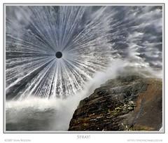 Spray! (Sean Bolton (no longer active)) Tags: lake tree water rock wales carmarthenshire dam cymru reservoir loch wfc llynbrianne supershot seanbolton abigfave anawesomeshot welshflickrcymru ffotocymrucouk ffotocymru