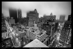 Show me the way - By a foggy night (Arnold Pouteau's) Tags: nyc newyorkcity bw night downtown noiretblanc manhattan tribeca arnoldpouteau 50ms