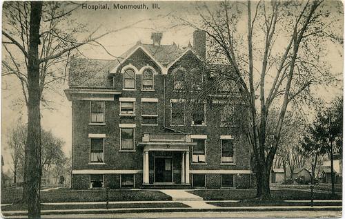Postcard: Hospital, Monmouth, Ill.