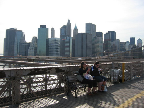 View of Manhattan from Bklyn Bridge