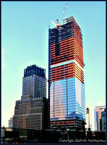 World Trade Center Site and 7 World Trade Center Under Construction, Verizon Building Under Repair, Manhattan, New York City