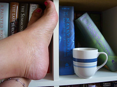Morning FUTAB (lrayholly) Tags: morning feet cup coffee relax books friday futab feetuptakeabreak