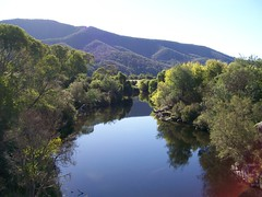 Swampy plains river (hollis_corey) Tags: mountains water snowy great serenity nsw mirrorimage snowymountains crystalclear crysal pondage khancoban swampyplainsriver