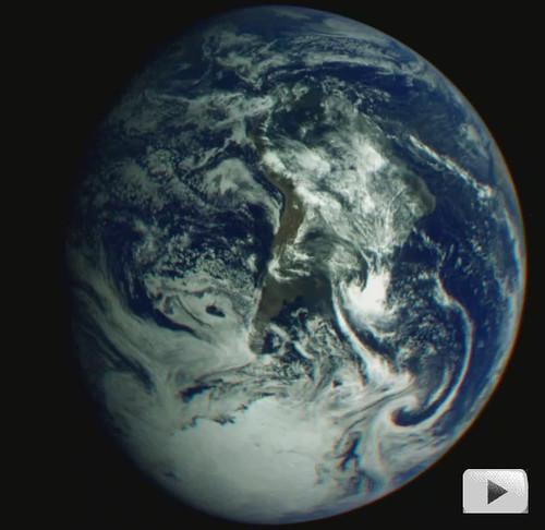 video de la tierra rotando desde la sonda galileo
