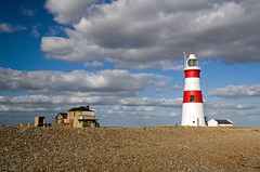Orford Ness Lighthouse 2 (Keith Marshall) Tags: uk england sky lighthouse clouds canon eos suffolk nationaltrust orford 30d orfordness 1785is canon30d