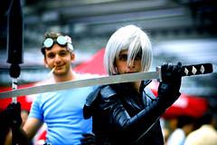 Unreal Fantasy? (Knrad) Tags: torino highcontrast weapon sword finalfantasy turin lomofake spada vignetta silverhair isoalti afnikkor85mmf18 cosplayermeeting corradogiulietti