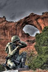 Navajo Code Talkers Memorial (JoelDeluxe) Tags: arizona code memorial az navajo joeldeluxe hdr codetalkers talkers windowrock dineh navajonation navajocodetalkersmemorial
