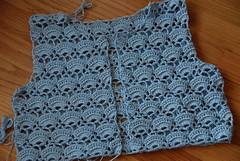 Skyblue Crochet Bolero WIP