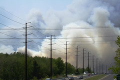 Jersey Forest Fire (Benny Vision) Tags: wild fire newjersey smoke pray nj surreal jersey forestfire unreal barnegat oceancounty gardenstate pinebarrens wildfire stafford warrengrove manahawkin southernnewjersey tuckerton burlingtoncounty innewjersey rt72 ragingfire route72 staffordtownship 130pm may162007 southernoceancountyfire oceanacresevacuates nationalgaurddroppedaflare 13000acres southernnj andiskippedlunchtogetshotsofthis jerseyforestfire fireinthepinebarrens southernoceancountyforestfire newjerseyforestfire manahawkinfire oceanacres over13000acres weneedmorerain fromlucillescandies firemenarethecoolest thisphotowastakeninmanahawkin newjerseyfire newjerseywildfire jerseyfire pinebarrensfire