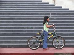 bike line (jobarracuda) Tags: girl bike bicycle stairs circle lumix soe fz50 blueribbonwinner panasoniclumix supershot girlonbike quezonmemorialcircle abigfave dmcfz50 jobarracuda flickersbest ysplix