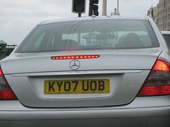 Merc driven by an idiot