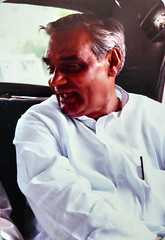 Atal smile 25 Sept. 1989 (Dr.SUDHIR's SHOTS) Tags: smile car pen politics poet politician leader editor pocket ambassador pm montblanc bjp kurta atal bihari vajpayee
