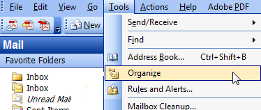 organize email using microsoft outlook