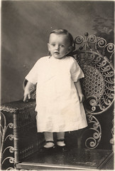 vintage studio portrait: baby grandpa (deflam) Tags: arizona portrait baby vintage studio globe infant child grandpa 1916 gilmer