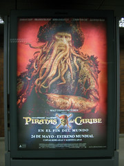 Davy Jones on Pirates 3 poster