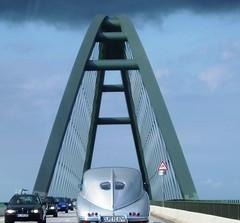 Tatraplan on the Fehmarn bridge (Davydutchy) Tags: auto topv111 germany denmark deutschland topv333 classiccar czech oldtimer danmark ostsee fehmarn tatra veterancar t600 tatraplan thebiggestgroup