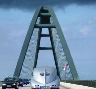 Tatraplan on the Fehmarn bridge