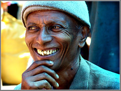 A happy man (Sukanto Debnath) Tags: portrait india man smile smiling market sony teeth bad ethnic f828 sikkim debnath ravangla sukanto sukantodebnath