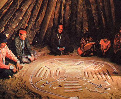 Cérémonie navajo de peinture de sable
