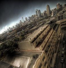 The Big Smoke (alexkess) Tags: street cars rooftop buildings shopping nikon centre parking sydney australia nsw cbd d200 hdr bushfire braodway lightroom photomatix backburning 7xp