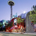 Seattle Center - Space Needle - EMP - SciFi Museum