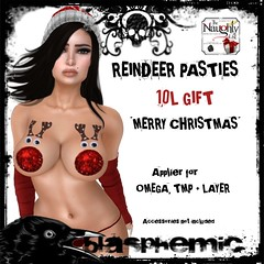 Reindeer pasties AD10L (BLASPHEMIC) Tags: blasphemic the naughty list applier omega pasties zmp tmp event gift