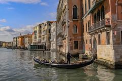 Venetian Gondola (robertdownie) Tags: city water boat europe italy architecture building venezia venice italia canal grand gondola veneto