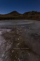 DSC_8636 / Lago ghiacciato al chiaro di luna - Monti Simbruini (Orizzonti Simbruini) Tags: simbruini montisimbruini montecotento moonlight nightscape autunno ghiaccio ice
