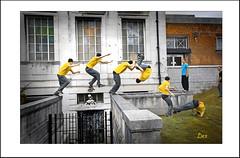 MULTIPLE ACTION (Derek Hyamson (5 Million views)) Tags: parkour freerunning birkenhead liverpool xtreme sport hdr candid