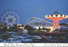 Magical twilight time at Miracle Strip Amusement Park, Panama City Beach, Fla. (stevesobczuk) Tags: seaside florida postcard amusementpark panamacitybeach springsteen miraclestrip borntorun redneckriviera us98 asburyparknewjersey frontbeachrd