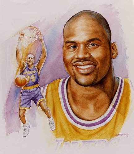 SHAQ WATERCOLOR