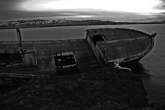 The broken ship in B&W (IvarPeturs) Tags: iceland