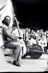 Percy Heath smiling (Tom Marcello) Tags: photography jazz jazzmusic jazzmusicians percyheath jazzplayers jazzphotos jazzphotography heathbrothers theheathbrothers jazzphotographs tommarcello