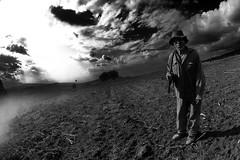 Ready to go home (Luis Montemayor) Tags: light sky man clouds landscape shepherd paisaje cielo tres beams hombre iztaccihuatl nubes arboles