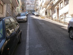 Rua estupidamente inclinada