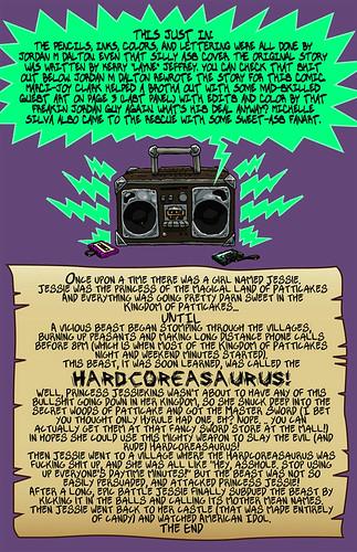 Hardcoreasaurus - Credits Page