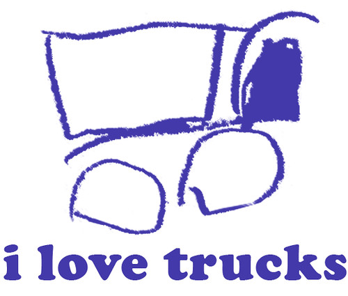 i love trucks freezer stencil