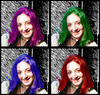 colors of my head (мαиєкιαяα) Tags: blue red verde green hair colours head blu violet io viola chiara rosso