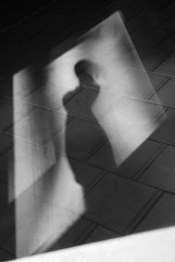 Selfportrait n5 (a.k.a Me as Venus de Milo) (matCHei) Tags: bw selfportrait me shadows autoportrait pavement geometry interestingness136 i500 flickrelite