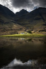 There's no place like home (gms) Tags: house reflection scotland cottage glencoe sunspot nikonstunninggallery