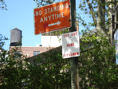 no standing you are here