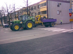 Equipment for the gay working man (teemu_fi) Tags: tractor rainbow multicoloured 26things