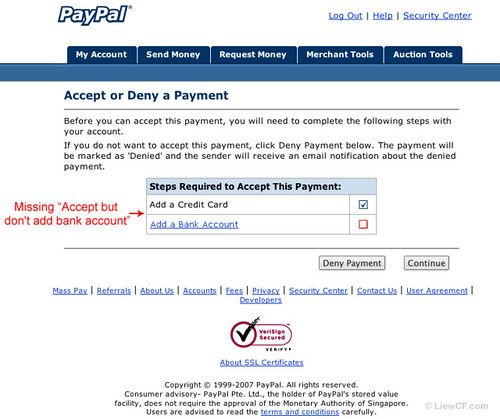 PayPal requires US Bank Account
