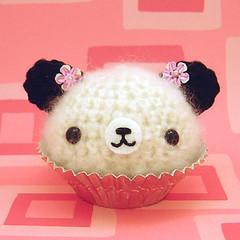 Amigurumi Cherry Blossom Panda Cupcake Bear