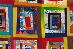 """Territoires  de Dsobissance"" dtail (manu/manuela) Tags: windows red art architecture colorful quilt textile quilting patchwork manuela handquilted quiltmain"