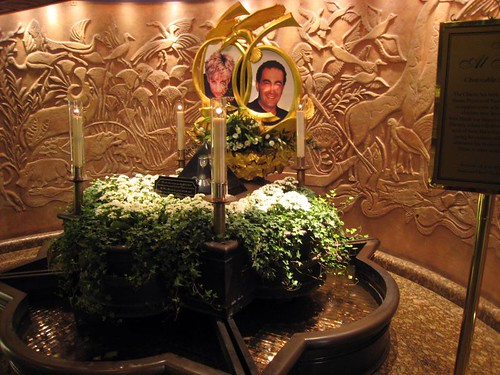 Monument to Dodi and Diana in Harrod's basement