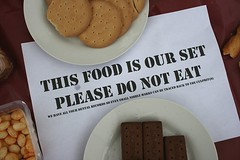Polite Notice About Fake Biscuits (Ben Morson) Tags: food sign notice fake biscuits buffet bourbon props filmset digestives loseyourself